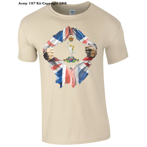 The Royal Signals Breakthrough T-Shirt Official Mod Approved Merchandise - S / Sand - T Shirt