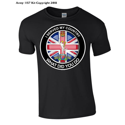 The Royal Signals ´what Did You Do´ T-Shirt Official Mod Approved Merchandise - S / Black - T Shirt