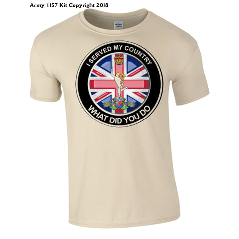 The Royal Signals ´what Did You Do´ T-Shirt Official Mod Approved Merchandise - S / Sand - T Shirt