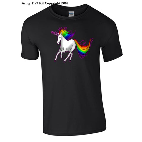 Unicorn T-Shirt - 7-8 Yrs / Black - T Shirt