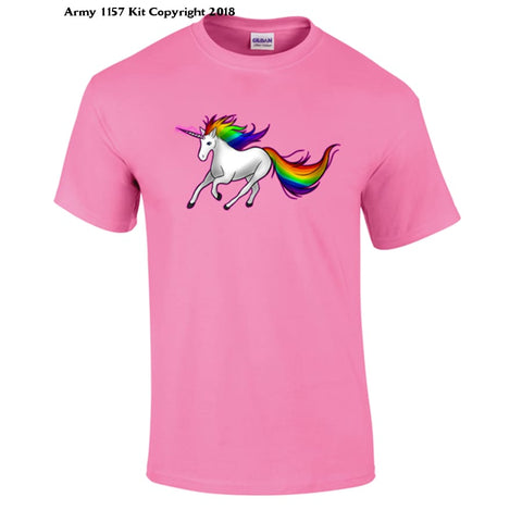 Unicorn T-Shirt - 7-8 Yrs / Pink - T Shirt