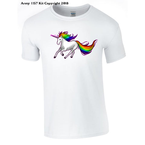 Unicorn T-Shirt - 7-8 Yrs / White - T Shirt