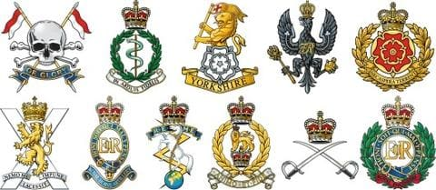British Army Regiments And Military Badges