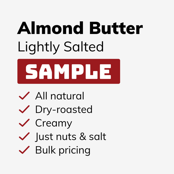 Lightly Salted Almond Butter SAMPLE