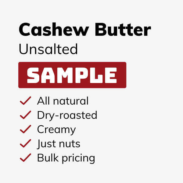 Unsalted Cashew Butter SAMPLE