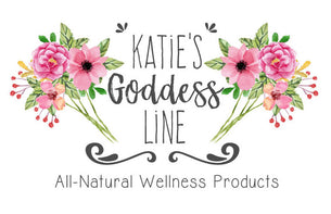 Katie's Goddess Line, all natural, handcrafted wellness products made in small batches for a variety of holistic needs from pain reduction to promoting relaxation.