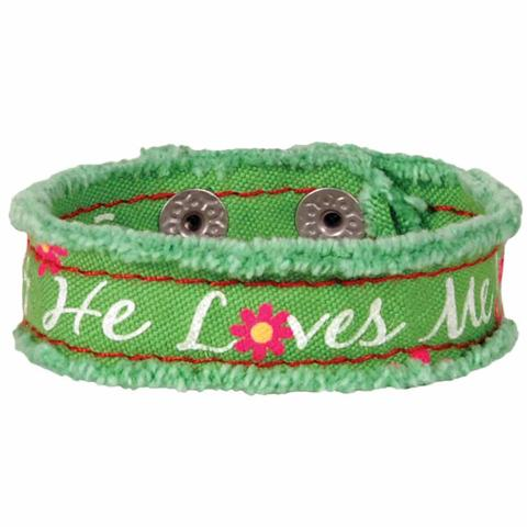 He Lives Cloth Bracelet