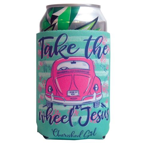 Take The Wheel Jesus Coozies