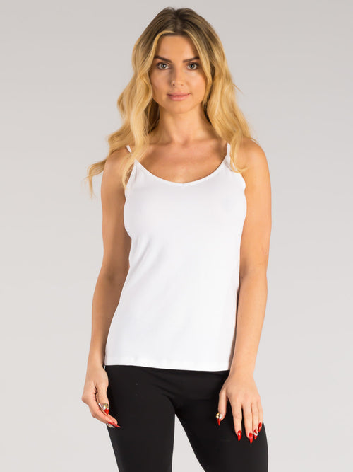 ORGANIC COTTON V-NECK CAMI