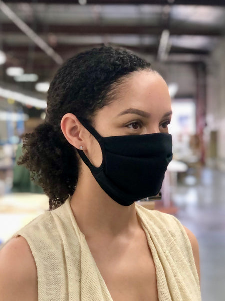 ORGANIC COTTON DOUBLE LAYER REUSABLE LOOP MASK (ADULTS)