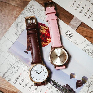 ROSE GOLD CASE, WHITE PETAL DIAL