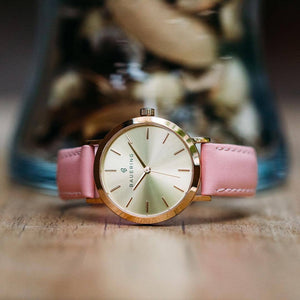 ROSE GOLD CASE, GOLD SUNRAY DIAL