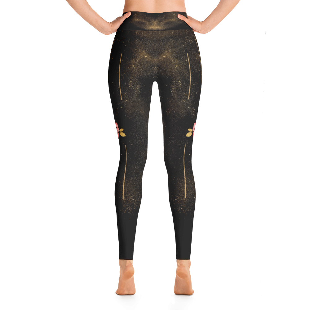Black + Rose Gold Leggings