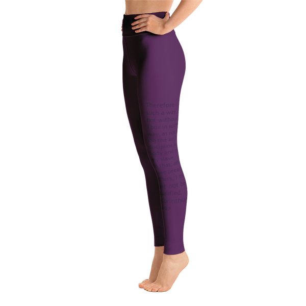 PURPLE CORINTHIANS  Yoga Leggings