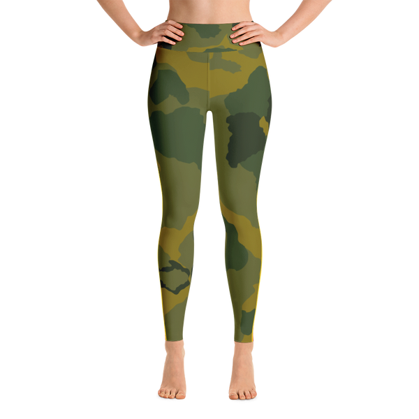 Retro Racer striped Camo Yoga Leggings