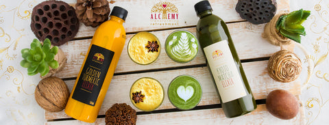 Buy Alchemy's Superfood Lattes from your local supermarket today.