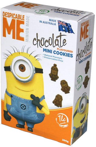 Despicable Me - Minion Made Cookies - Chocolate - box of 6