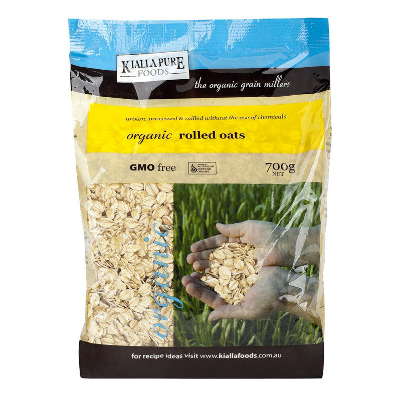 Kialla Organic Rolled Oats - 700g - Box of 6