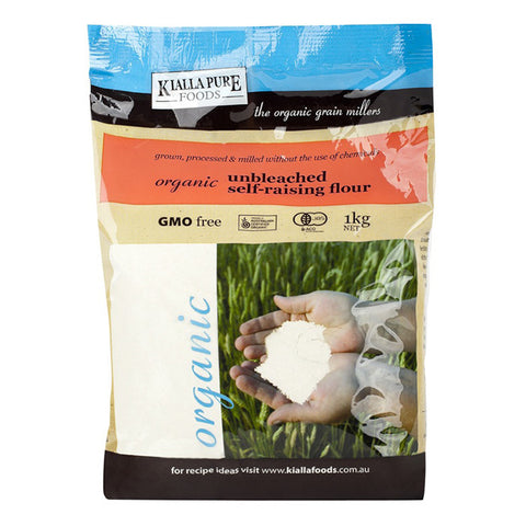 Kialla Organic Flour Unbleached Self Raising 1kg - Box of 6