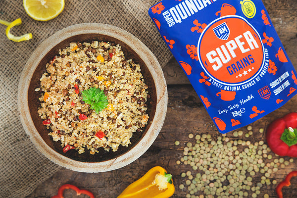 Supergrains Quinoa with mixed pepper & lentils - Box of 6