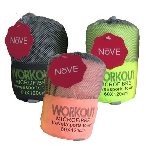 Nove Workout / Travel Towel - Box of 12 - Assorted Colours