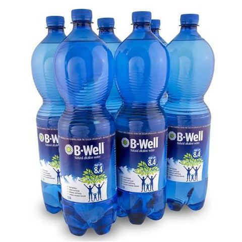 B-Well Alkaline Water 6 x 1.5lt bottles