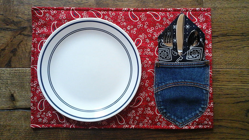 How to Sew Homemade Summer Placemats