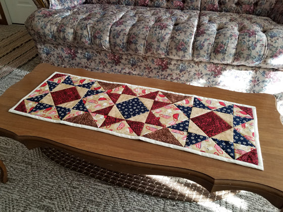 Finished Quilted Table Runner