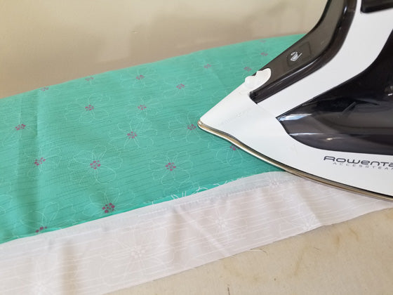 Ironing the fabric