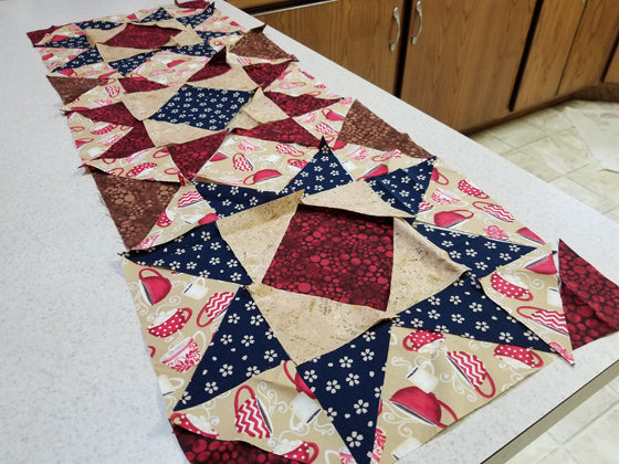 Layout of quilt squares