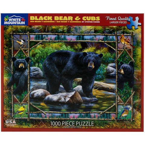 Black Bear & Cubs Puzzle