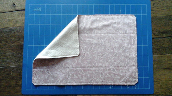 sewing your own placemat,