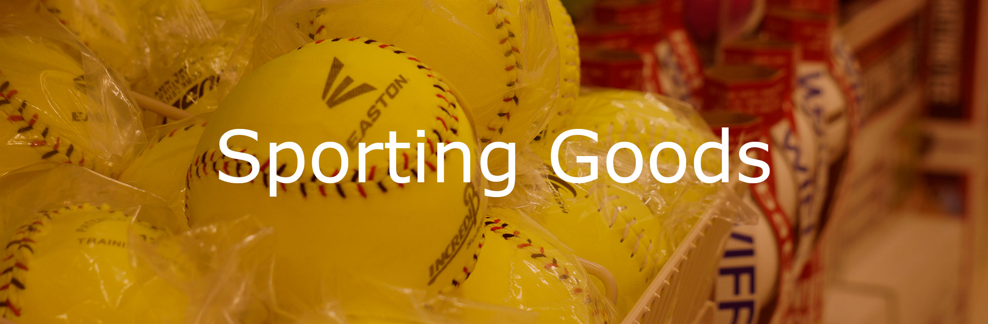 Sporting Goods Department at Good's Store