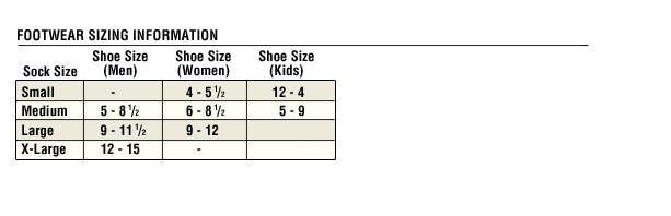 Ladies Carhartt footwear size chart