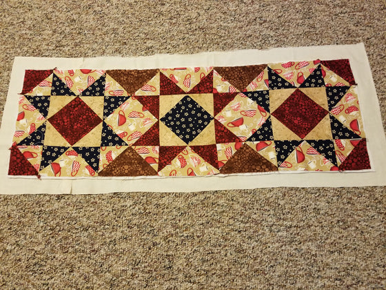 Quilted table runner with batting