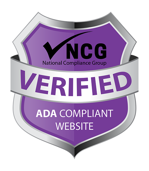 Badge showing this website is NCG verified ADA compliant
