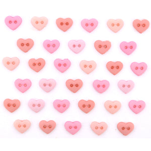 Mini heart buttons
