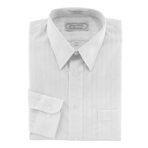 Men's White Dress shirt tone-on-tone