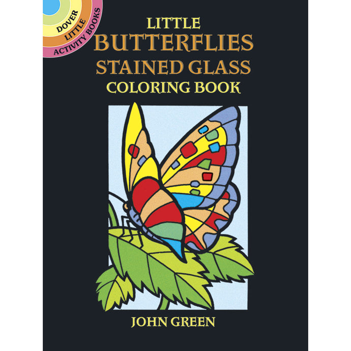 Dover Little Butterflies Stained Glass Coloring Book