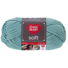 Sea Foam color soft yarn.