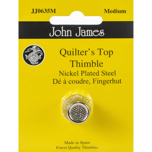 Quilter's Top Nickle Plated Thimble JJ0635M