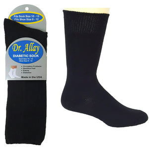 Dr. Allay black diabetic socks.