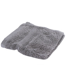 Pearl gray washcloth.