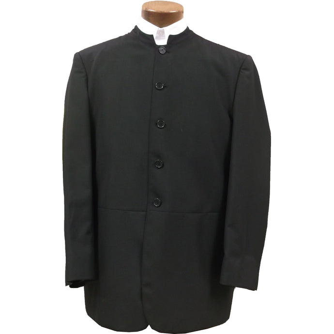 Black old frock suit coat.