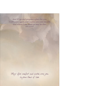 Inside of sympathy card.