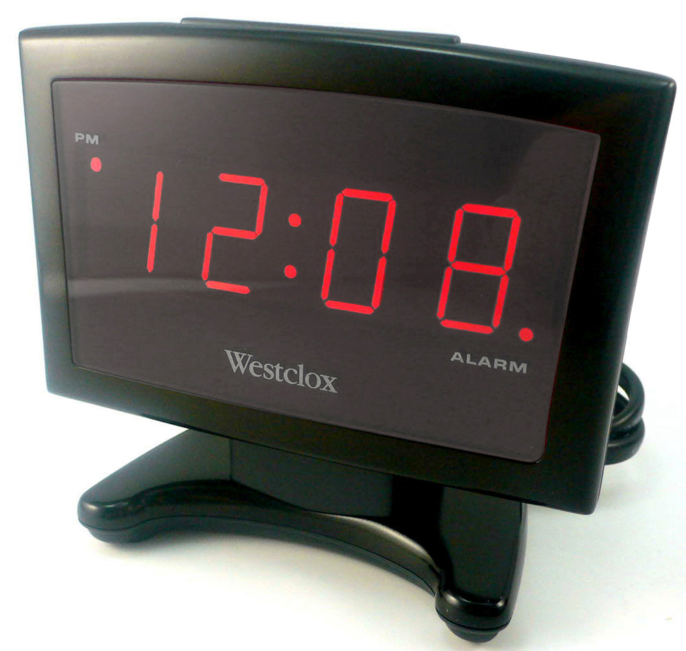 Westclox LED Alarm Clock Large Display