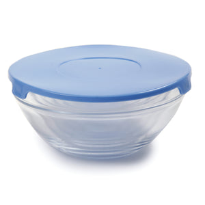 Glass Bowl Set with Lids 1018