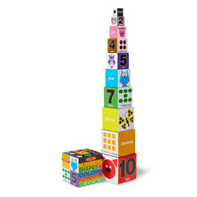Stacking blocks with numbers, shapes and colors