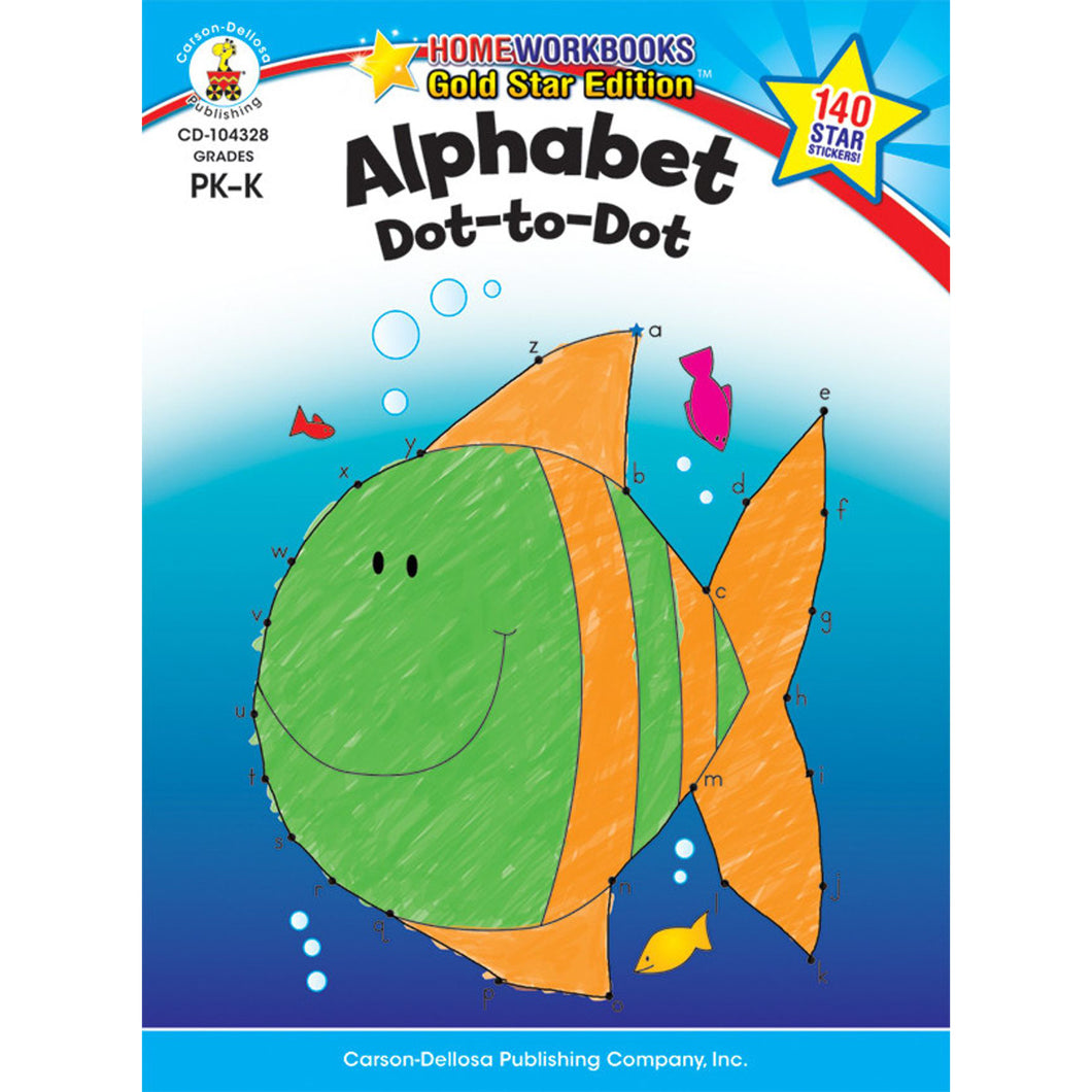 Carson Dellosa Alphabet Dot-to-Dot activity book