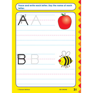 Carson Dellosa Get Ready for Kindergarten activity book letters A B page